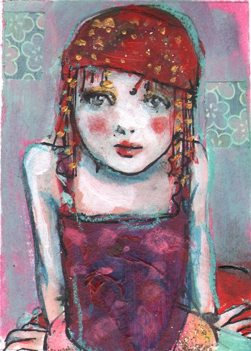 aceo-circus-girl-study