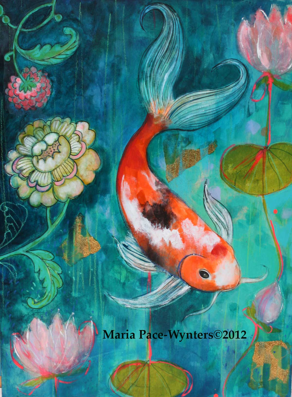 the koi in the flower garden maria pace wynters