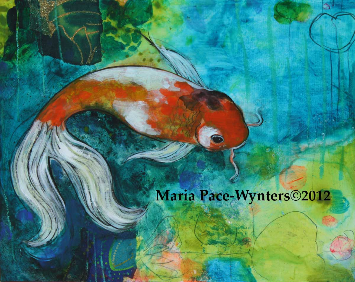 The small koi pond maria pace wynters for Koi pool paint