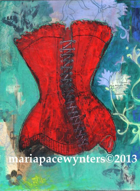 The-Back-Of-Red-Corset