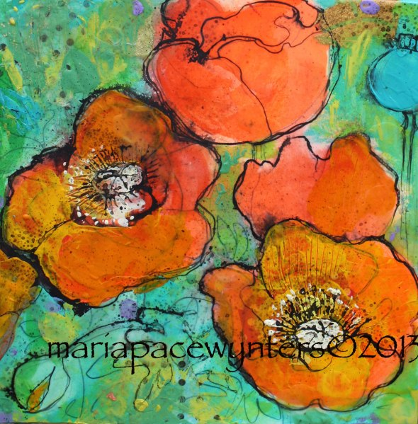 Tangerine-Poppies