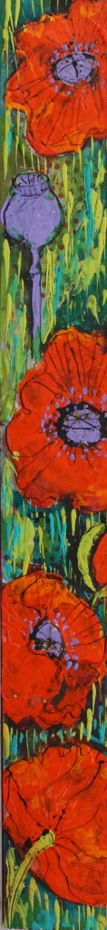 Frie Red Poppy Garden Slice