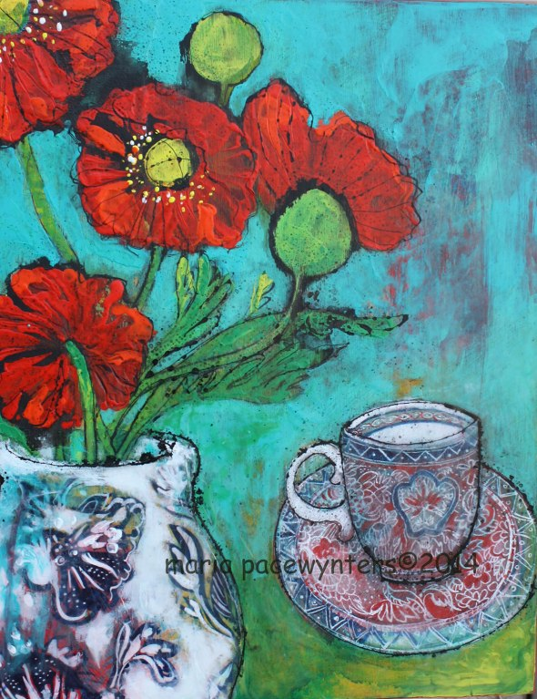 Red-Poppies-And-Green-Tea