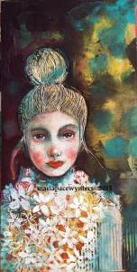 Girl-With-Origami-Dress