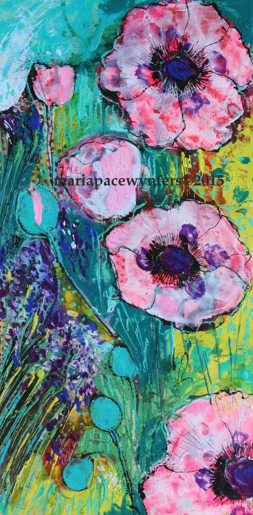 Pink-Poppies-And-Lanvendar
