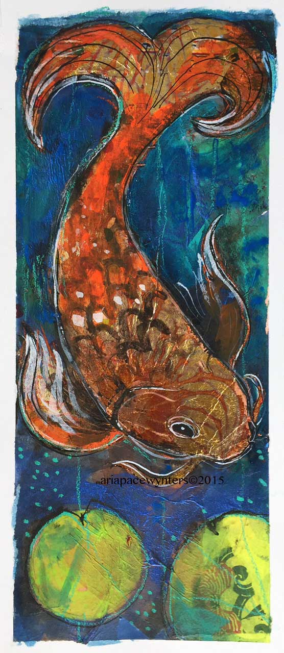 Painting for sale maria pace wynters for Gold koi for sale