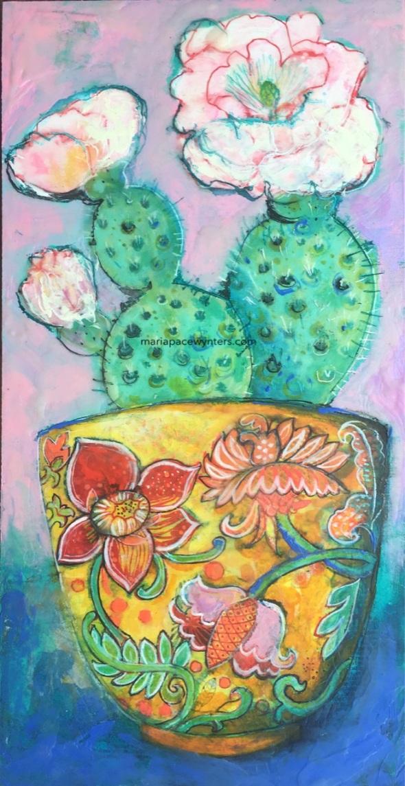 Cactus In An Asian Pot