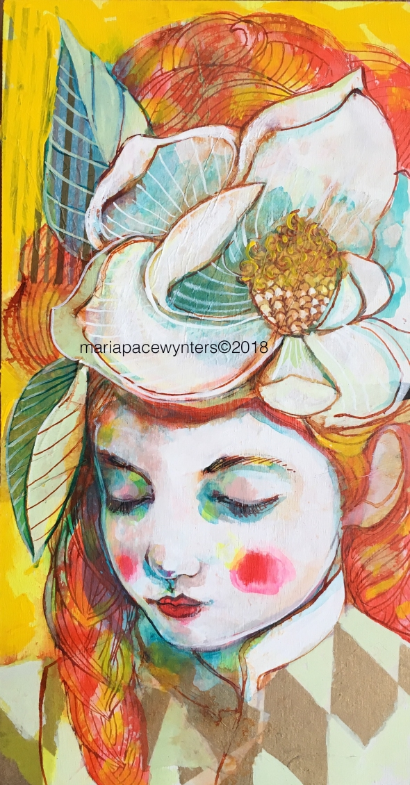 Girl In The Magnolia Hat- Original - MPW