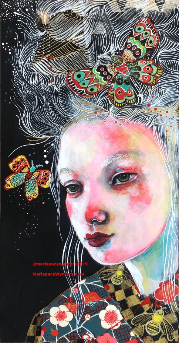 Butterflies And Bees, Maria Pace-Wynters, original