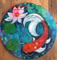 Round Koi Pond, original, Maria PW