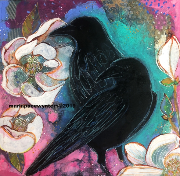 Two Crows and Magnolias, mariapacewynters
